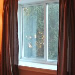 Wide window sills. Sliding windows offer ventilation.