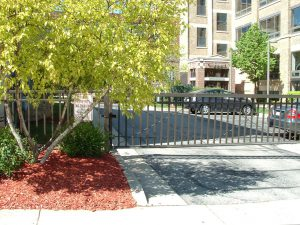 Some buildings provide gated off-street outdoor parking.