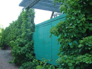 A locked storage area, on common area grounds, with no access allowed to association members.