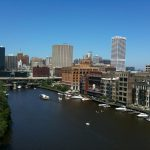 Top floor views of Downtown and the River
